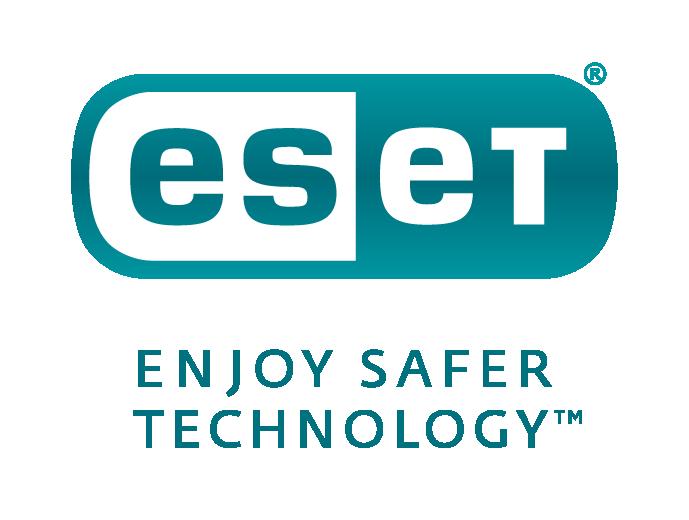 ESET logo Stacked Colour Dark Turq tag RGB 1